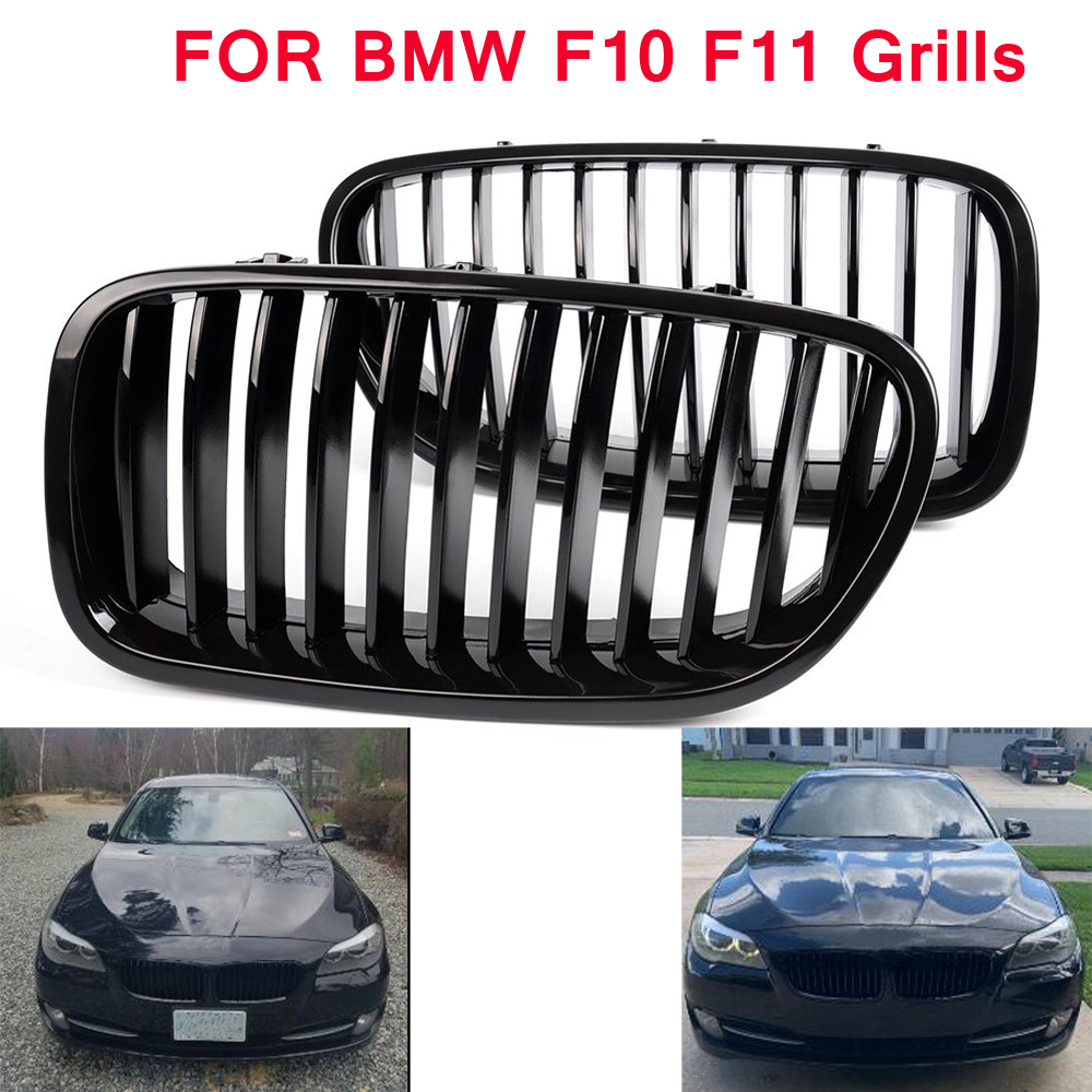Front Kidney Grille ABS Car Racing Grills for <font><b>BMW</b></font> 5 Series <font><b>F11</b></font> F10 4 Doors 2010-2016 520i 523 525i 530i Car Styling <font><b>Accessories</b></font> image