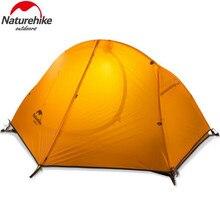 Naturehike 4 сезон Сверхлегкий 1 Человек двухслойный алюминиевый стержень туристическая палатка 20D силиконовая ткань с туристическим ковриком