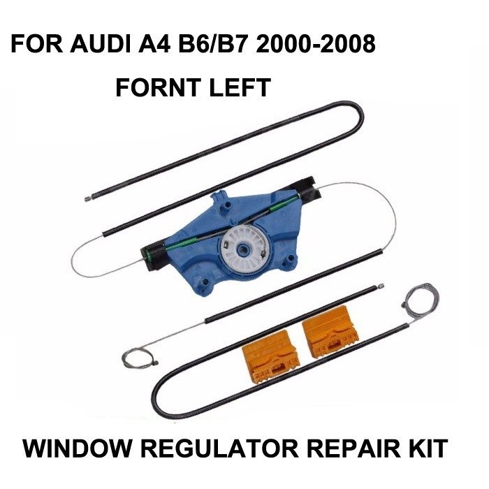 2000-2008 WINODW KIT FOR AUDI A4 B6/B7 WINDOW REGULATOR CABLES AND CLIPS FRONT-LEFT SIDE