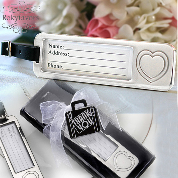 FREE SHIPPING 100PCS Forever LOVE Heart Luggage Tag Favors Wedding ...