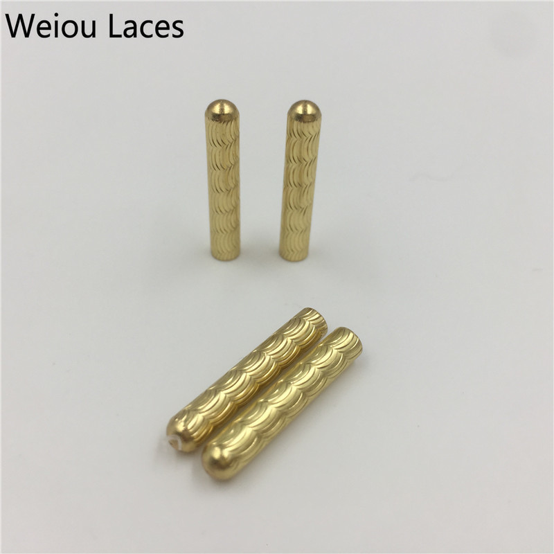 Weiou 4pcs/1Set New 4x22mm Crescent Close Mouth Type Shoelaces Metal Tips DIY Seamless Clothing Laces Head Fashion Metal Aglets weiou 20pcs lot 4x22mm seamless shoelaces metal aglets bullet shaped head ends replacement repair tips sneaker kits diy custom