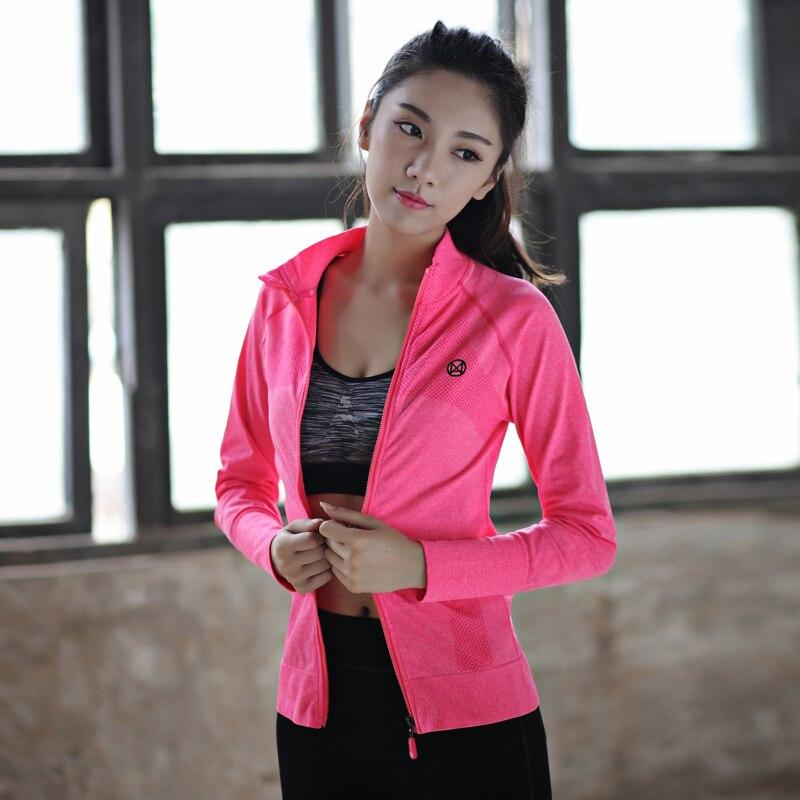 LD. ALICE marque femmes Yoga chemises à manches longues Fitness flocon de neige Zipper femme sport T-Shirt en cours d'exécution sexe dames vêtements de Yoga