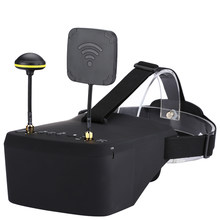 In Stock LS-800D FPV Goggles 5.8G 40CH 5 Inch 854*480 Video Headset HD DVR Diversity With 2000mAh Battery For RC Model(China)
