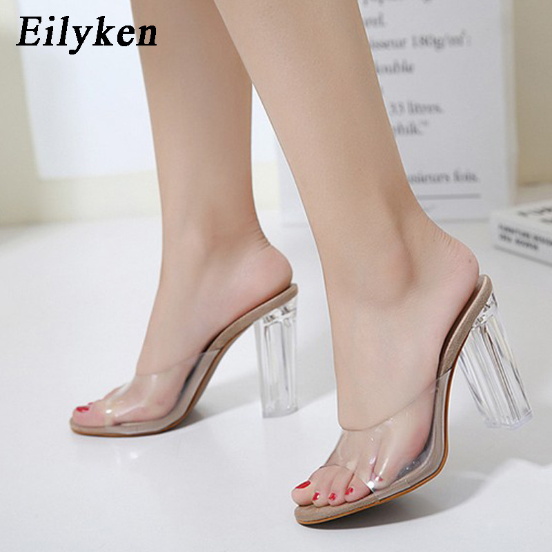 Eilyken New Women Sandals PVC Crystal heel Transparent Women Sexy Clear  High heels Summer Sandals Pumps 11cm size 35 40-in High Heels from Shoes on  ... 6ebccc65424c