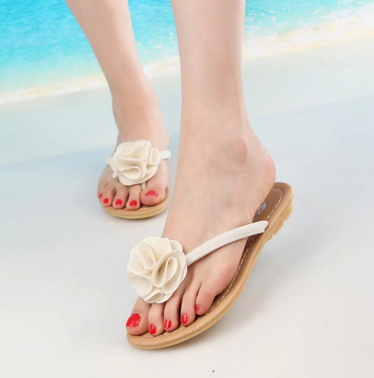 2015 trend women flats sandals black redbluewhite flower flip 2015 trend women flats sandals black redbluewhite flower flip flop flat sandals sandal women summer sandals low heeled shoes in womens sandals from mightylinksfo