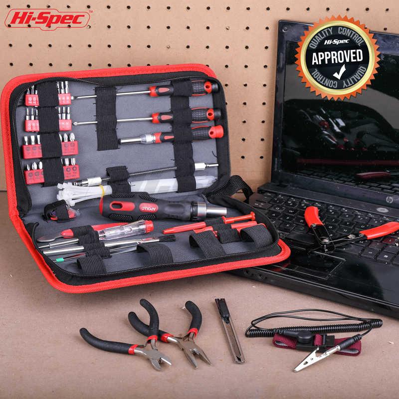 Hi-Spec 73 pc Прецизионная отвертка набор ремонтных инструментов Комплект сумка на молнии ручные инструменты инструмент для феррамика для сотового телефона IPhone 4s5s 6s psp