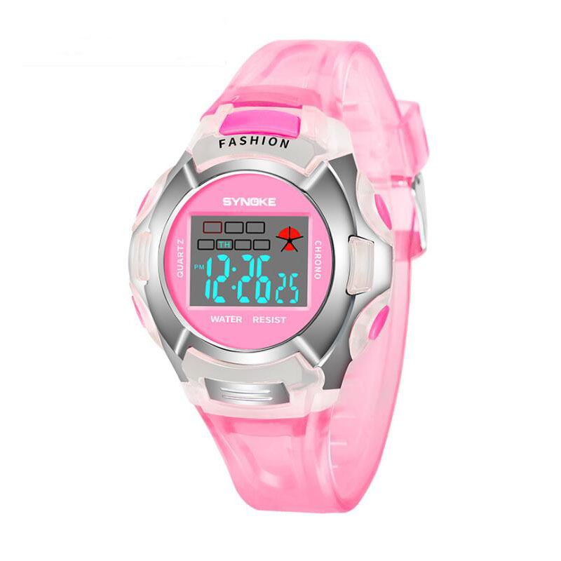 Children's Watch Digital Girl Electronic Sports Student Waterproof Boy Led Luminous Top-Brand