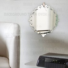 Self Adhesive Lace Frame 3mm Thick Acrylic Decorative Mirror Home Decor Living Room Bedroom Kitchen Bathroom Decoration M007(China)