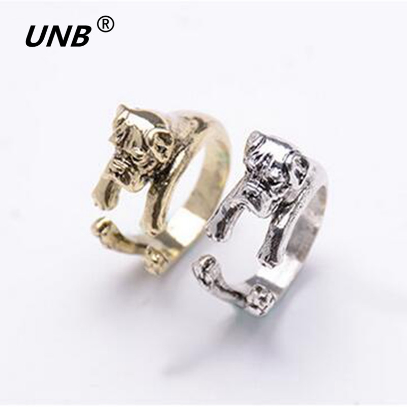 2016 The One Of Boxer Wrap Dog Ring Men Women Alloy Ring ...