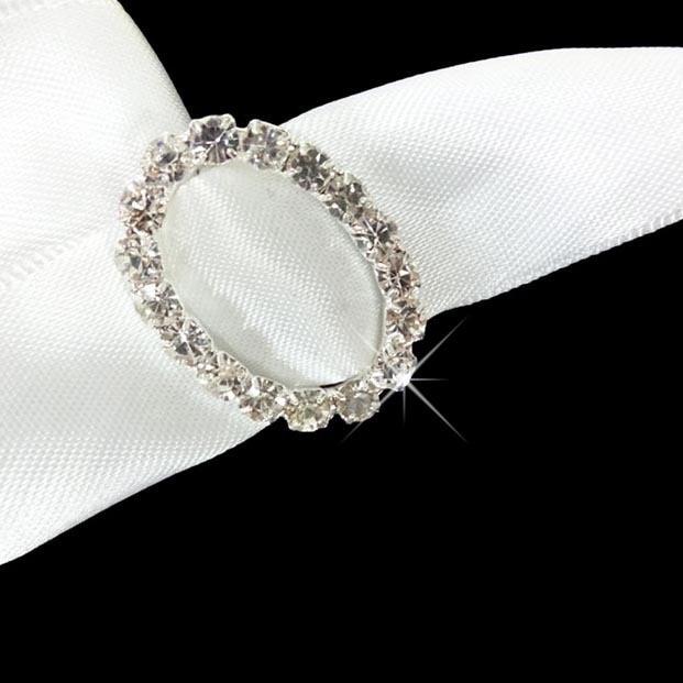 rond de serviette perle serviette anneau forme ovale ruban boucle pour le mariage pas cher. Black Bedroom Furniture Sets. Home Design Ideas