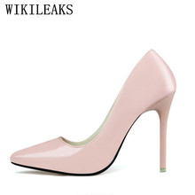 OL escarpins sexy womens super high heels pointed toe lolita shoes african shoe set patent leather pumps gold silver blue shoes(China)