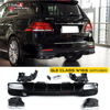 Mercedes X166 Rear Bumper Diffuser With 4 Outlet Exhaust 304 Stainless Steel For Benz GLE Class