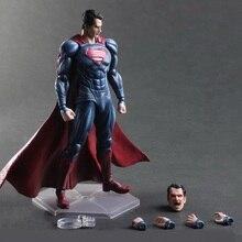 27cm Justice league Batman v Superman Dawn of Justice PVC Action Figure Can Change Face Collectors Model Toys