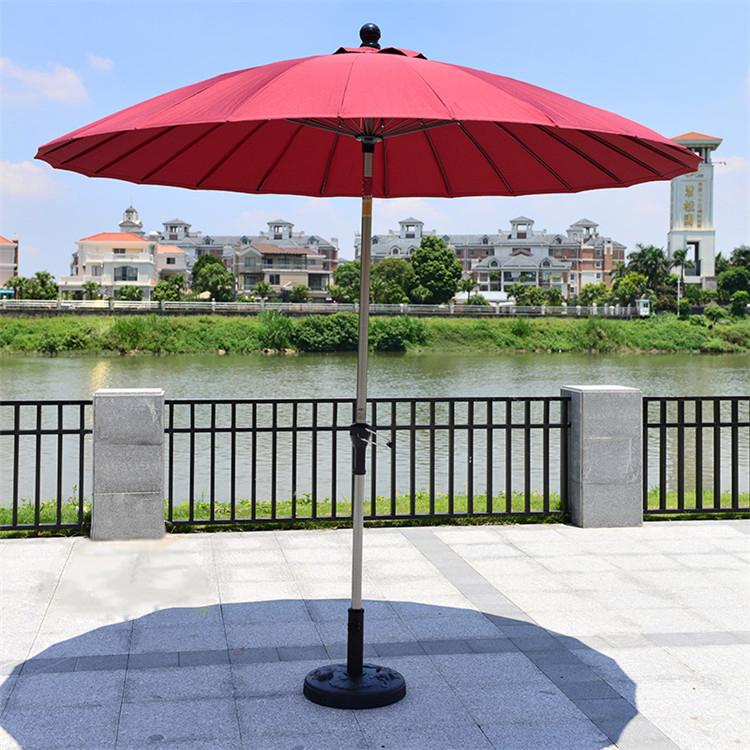 2.5 meter 24K steel iron ribs patio sun umbrella garden parasol sunshade outdoor furniture cover for home decoration ( no base ) 2 7 m outdoor umbrellas patio umbrella column banana straight with a hand of iron