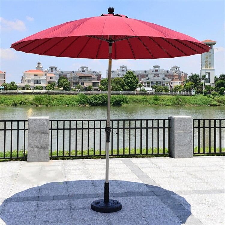 2.5 metro 24 K costole di ferro di acciaio patio ombrellone da giardino parasole parasole esterna di copertura mobili per la casa decorazione (senza base)