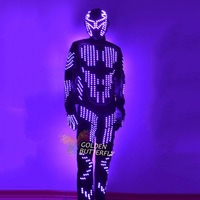 LED Suits Luminous Costumes Glowing LED Clothing 2017 Hot Fashion Show Men LED Pants Dance Accessories Free Shipping