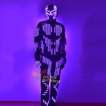 LED Suits Luminous Costumes Glowing LED Clothing 2015 Hot Fashion Show Men LED Pants Dance Accessories Free Shipping