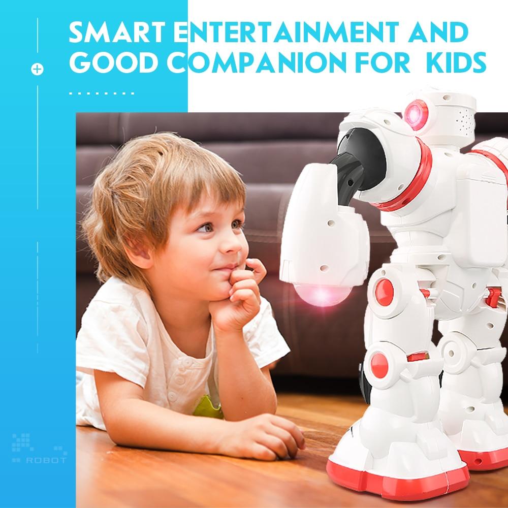 JJRC R3 Intelligent Programming Dance Gesture Sensor Control RC Robot Toy Gift for Children Blue Red intelligent sensor aircraft toy