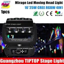 TIPTOP TP-L653 Новый Дизайн Мираж Водить Лучом Перемещение Головного Света 16*25 Вт RGBW Паук Луч Эффект Быстро Панорамирования/Наклона Динамический Эффект CE ROHS