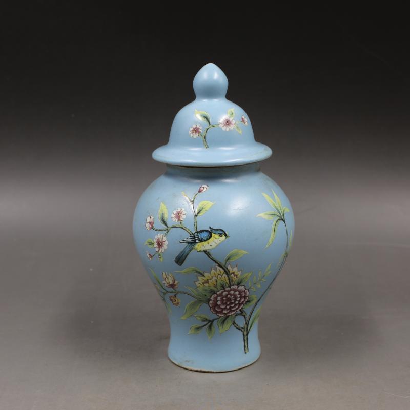 Jingdezhen Antique Blue Ceramic Small Tea Jar Travel Mini