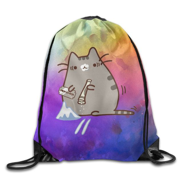 Cute Pusheen Cat Print Backpack (8 types)
