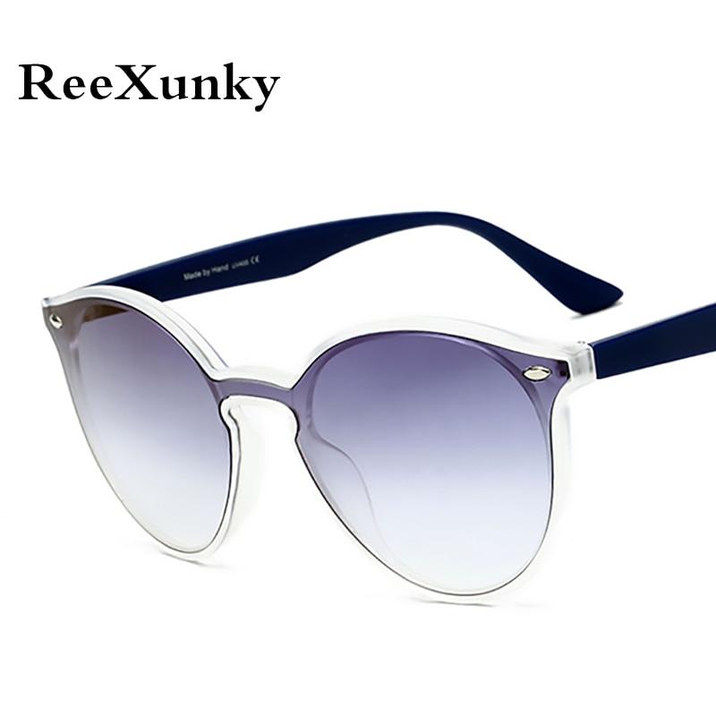 d8276e9702 Gafas de sol redondas de moda 2019 para mujer de marca de lujo de diseñador  clásico ojo de gato gafas de sol gradiente Retro sombras hombres zonnebril  damas