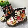 2017 Impresión de La Manera de Los Niños Zapatos Para Niñas Botas Lindo Botas Martin Bebé Botas de Fondos Blandos Niños Cómodos Zapatos Casuales de Cuero