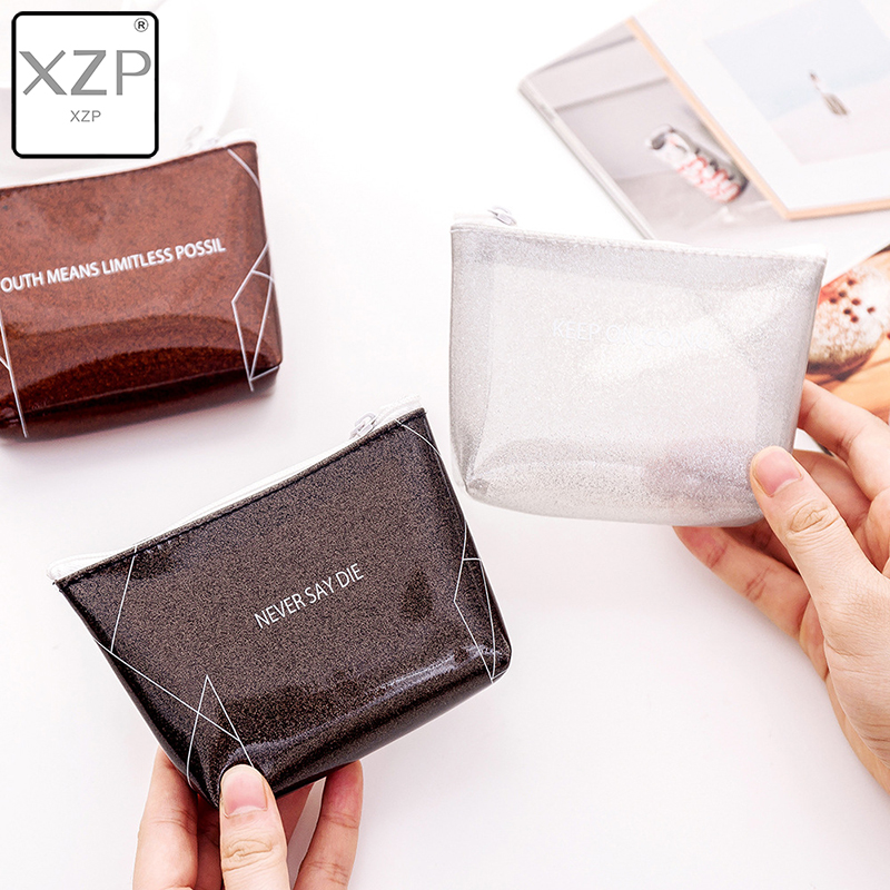 XZP 2019 Women Men Lady Kids Coin Purses Wallet PVC Lady Small Mini Coin Pouch Zipper Money Key Earphone Line Coin Holder Purse in Coin Purses from Luggage Bags