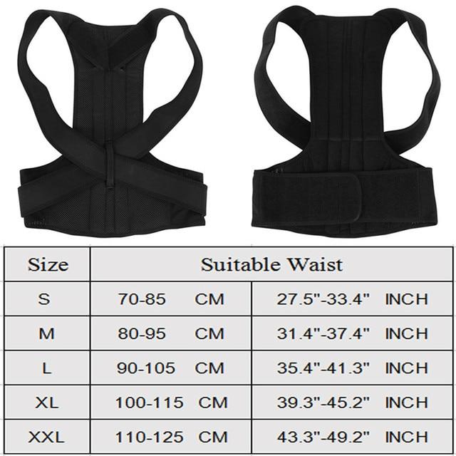 Black Posture brace spine support 5c64ca34e89ca