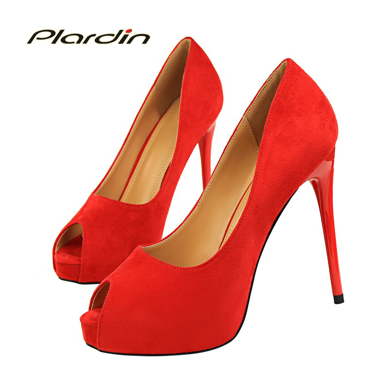plardin 2017 New Shoes Woman Pointed Toe Sexy Women Party Wedding Nightclub Shallow Mouth Two Piece Side High Heel Pump Peep Top new woman sweet bowtie pointed toe fashion women party wedding ladies shoes shallow mouth side hollow women high heel shoes