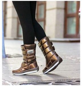 Image 4 - ผู้หญิงรองเท้ากันน้ำฤดูหนาวรองเท้าผู้หญิงแพลตฟอร์มSnow Boots Keep Warmกลางฤดูหนาวหนาขนสัตว์ส้นbotas Mujer