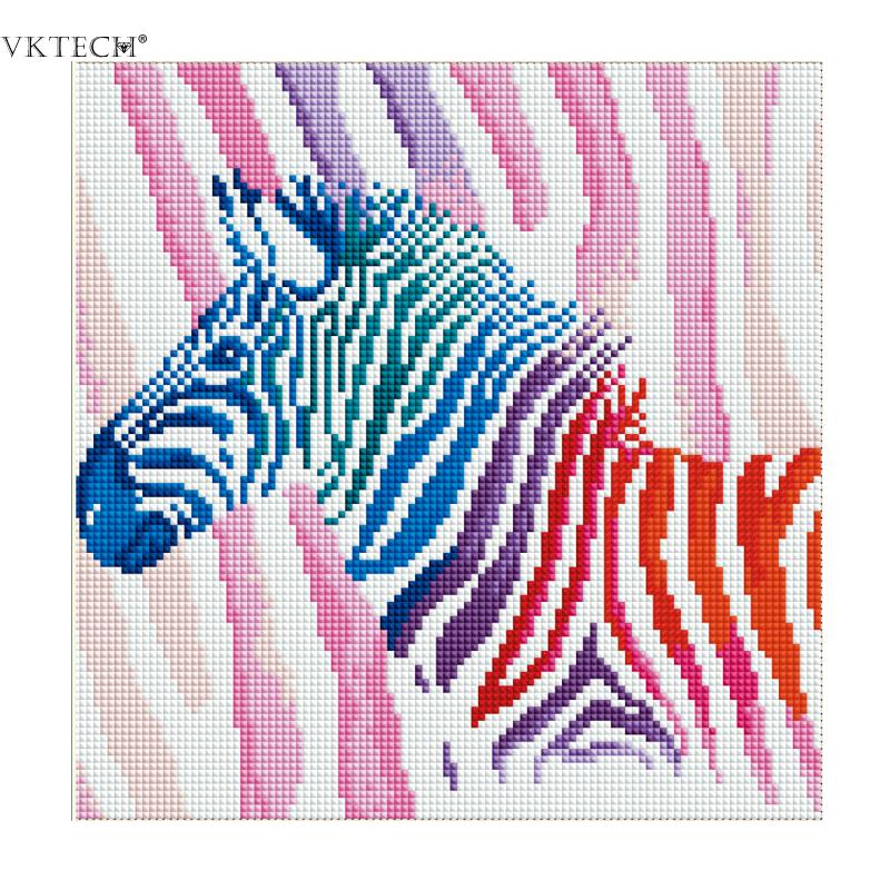 30*30cm Full Drill Colorful Horse 5D Diamond Painting Cross Stitch DIY Needlework Craft Kit Diamond Embroidery Home Decoration