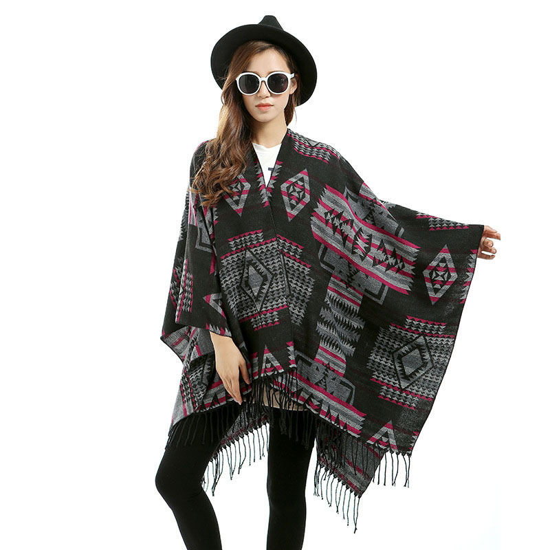 Oversized Scarves 2016 Runway New Designer font b Tartan b font Split Scarf Women Plaid Blanket