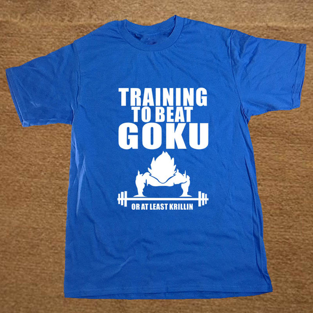 Fashion T Shirts Men Insaiyan T-Shirt Krillin DBZ Dragon Ball Train to Beat Goku Graphic Funny Geek Promotion Casual