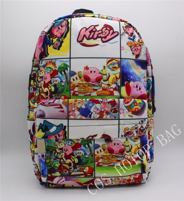 bdbeaded22ff 2019 NEW Kirby Backpack Cartoon School Bag Student Bags Double Shoulder  backpack Boy Girls Schoolbag bookbag