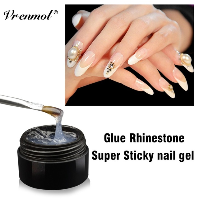 Vrenmol 2017 Uv Nail Gel Polish Glue Rhinestone Adhesives Super Sticky Transpa Clear Builder Nails
