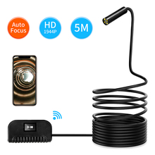 Wifi Endoscope Camera 3.5/5/10m Soft cable 14.2mm HD 1944P For IOS Android Phone Borescope Mini Camera Pipe PCB Car Inspection