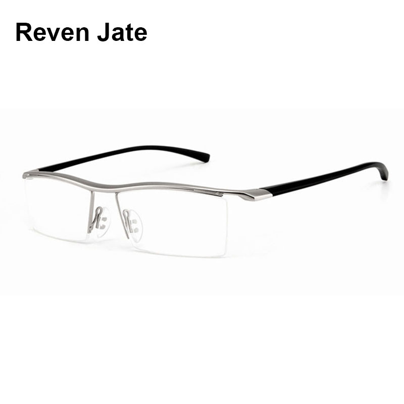f1b3ac23705 Browline Half Rim Alloy Metal Glasses Frame for Men Eyeglasses Fashion Cool  Optical Eyewear Man Spectacles
