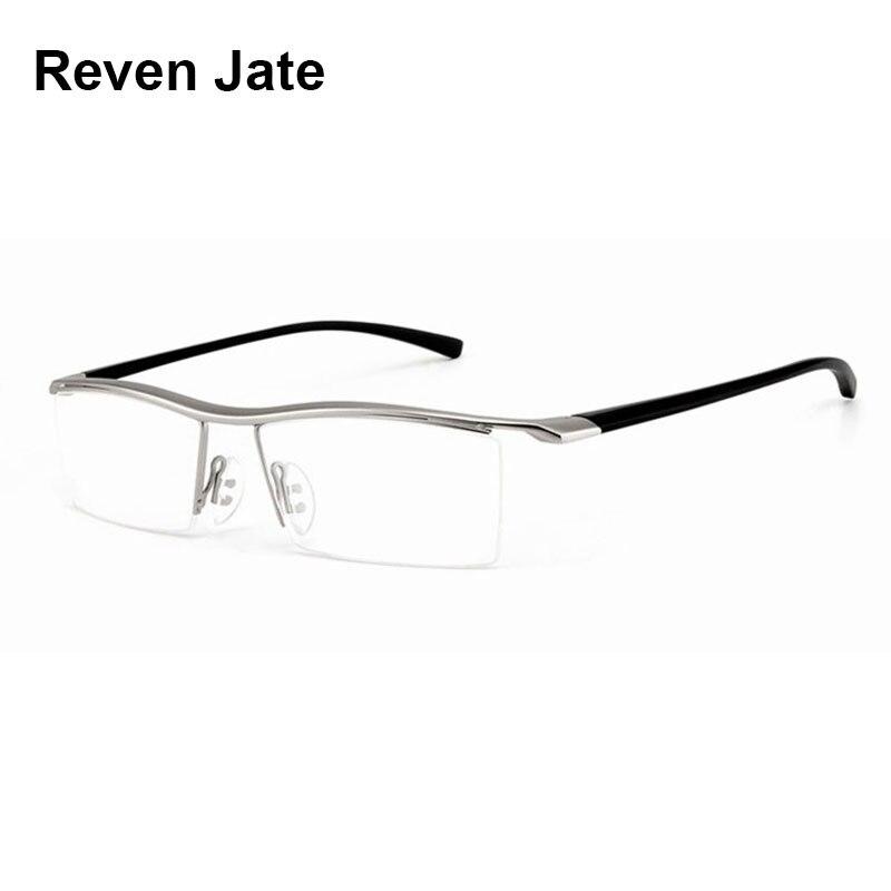 Browline Metade Aro Liga de Metal Óculos Moldura para Homens Óculos Cool  Fashion Optical Óculos Homem 870c7865fc
