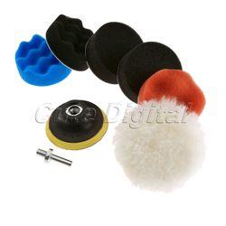 7 sztuk 80mm polerowanie polerowanie Pad zestaw gąbka woskowanie podkładka do polerowania samochodu polerka narzędzie do do pielęgnacji samochodów + wiertarka adapter Dremel akcesoria
