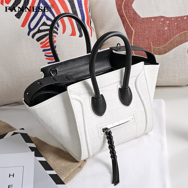 A woman's classic luxury fashion handbag bag lady handbag smile ghost bat wings face famous bangalor lydian women classic luxury pu leather smiling face bag black handbags bat wings lady smiley totes phantom famous purse clutches