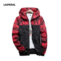 LASPERAL 2017 New Camouflage Hooded Men S Hoodies Tide Patchwork Long Sleeve Autumn Sweatshirts Casual Tops