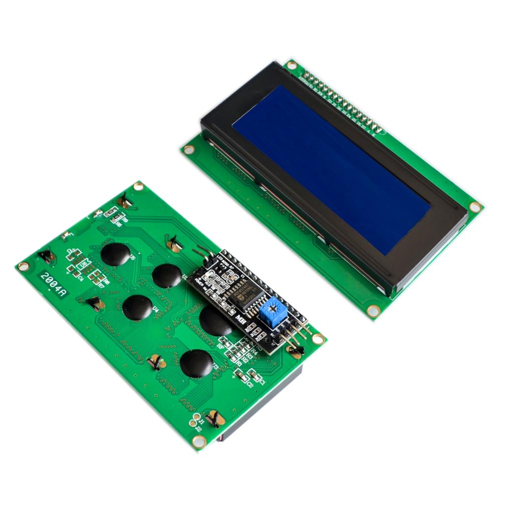 1 Uds. LCD2004 + I2C 2004 20x4 2004A pantalla azul HD44780 personaje LCD/w IIC/I2C Módulo adaptador de interfaz serie El CCRSM Khan M5 Scher-Khan M5 Magicar 5 llavero LCD sistema de alarma coche dos vías nuevo control remoto/transmisor fm