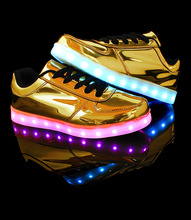 Women shoes for adults canvas shoes women 2017 hot fashion breathable led luminous shoes