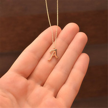 Custom Letter Necklace A-Z Choker Rose Gold Chain Personalized Pendant Women Gift Collares Kolye Femme Handmade Jewelry ailin freeshipping personalized mo in rose gold color custom made 3 initials circle block monogrammed necklace choker with chain