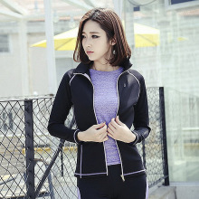 Autumn and winter female outdoor sports jacket slim Yoga coat collar long sleeved jacket occupation running