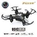 Venta caliente FQ777-951C MINI Con Cámara de $ number MP Modo Sin Cabeza 2.4G tarjeta SD de la Ayuda 4CH 6 Axis RC Quadcopter RTF