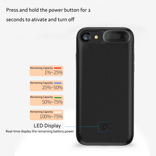 Ultra-thin External Magnetic Power Bank Backup Battery Charger Case Pack Universal for iPhone 6s/7/8 plus