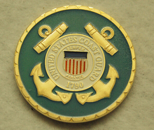 Hot sales US custom coin  low price COAST GUARD Challenge Coin Homeland Security high Quality metal FH810222