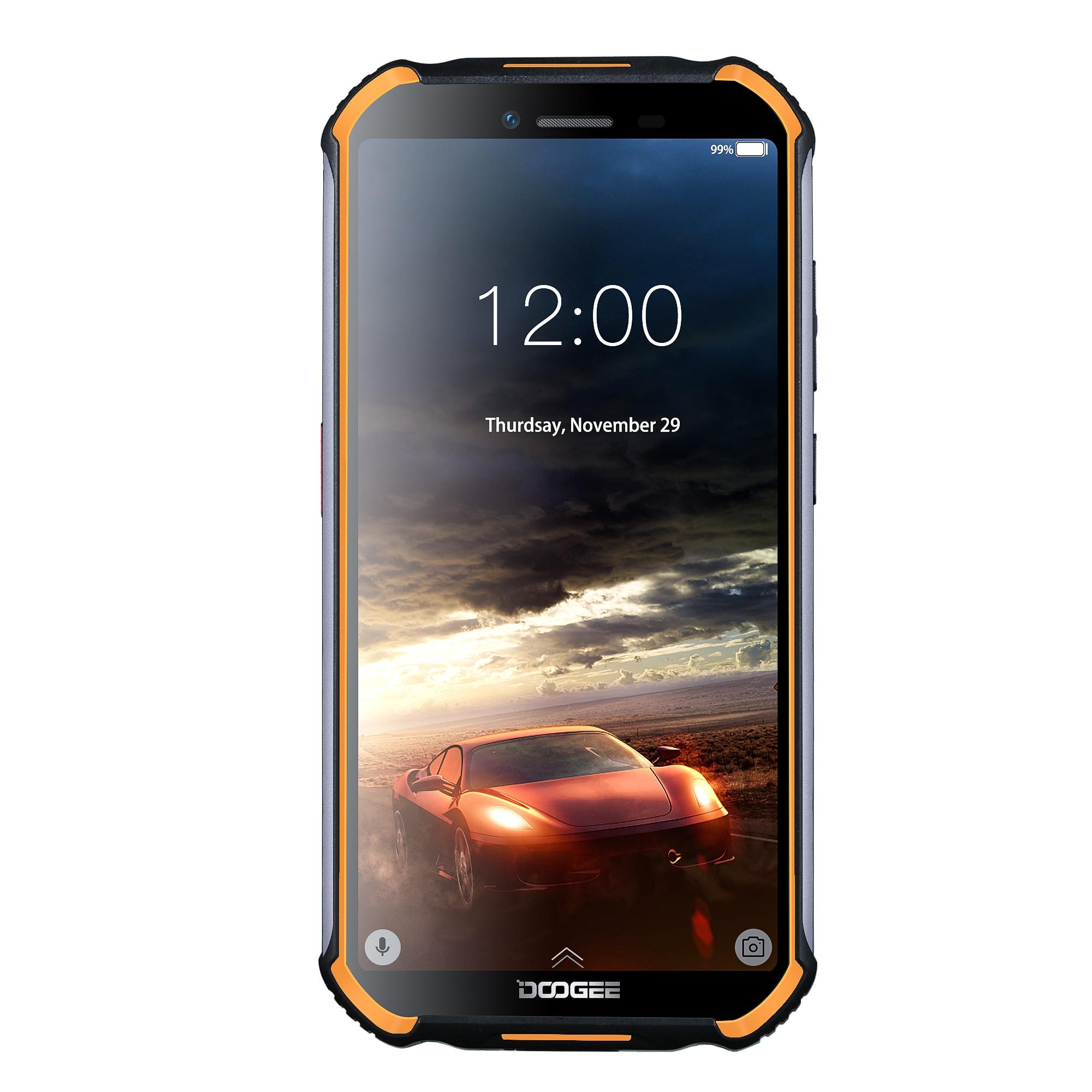 DOOGEE 4 S40 Android 9.0G Rede Móvel Robusto Telefone 5.5 de polegada de Telefone Celular MT6739 Quad Core 3GB de RAM GB ROM 8.0MP 32 IP68/IP69K